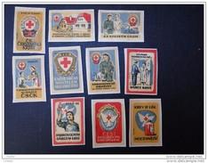 Etiquettes  Lot De 10  étiquettes Collées Sur Papier Thécoslovaquie - Zündholzschachteletiketten