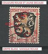 VARIÉTÉS  ZONE FRANÇAISE 1945  BRIEFPOST 12 P F OBLITÉRÉ - Zone Française