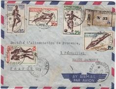 LA 150 - SENEGAL Lettre Recommandée Par Avion Mpour Fénouillet Affr. Sports Divers 1963 - Senegal (1960-...)