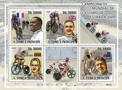SAO TOME E PRINCIPE 2009 SHEET WORLD CYCLING CHAMPIONSHIP CICLISMO CYCLISME SPORTS DEPORTES St9312a - Sao Tome En Principe