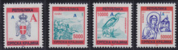 "Croatia Republic Of Serbian Krajina 1993 Definitive With Overprint Cyrillic ""D"", MNH (**) Michel 17-20 - Croatie"