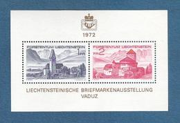 LIECHTENSTEIN - 1972 - BF Con 2 Valori Nuovo S.t.l. - ESPOSIZIONE FILATELICA NAZIONALE LIBA - In Ottime Condizioni.