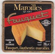 Etiquette Maroilles Quart Fauquet / Fabriqué En Avesnois - Fromage