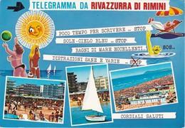 Cartolina - Postcard  - Telegramma Da Rivazzurra Di Rimini . - Rimini