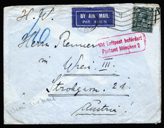 A4627) UK Airmail Cover From London 06/21/30 To Wien Over München - 1902-1951 (Kings)