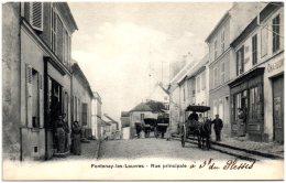 95 FONTENAY-les-LOUVRE - Rue Principale    (Recto/Verso) - France