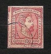 SPAGNA 1874 - Insurrezione Carlista - Catalogna - 16 Ma Rosa - Edi:ES 157 - 1873-74 Reggenza