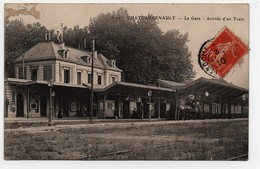 Carte Postale Chateaurenault La Gare Arrivée D'un Train CPA 1910 - Andere Gemeenten
