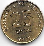 Philippines 25 Centavos 2004  Km 271  Unc - Philippines