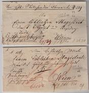 """"""" Wischau """" Böhmen, 2 Briefe ,  #8015 - Österreich"""