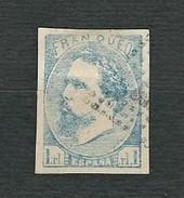 SPAGNA 1873 - Insurrezione Carlista - Province Basche E Navarra - Don Carlos VII - 1 Real Azz. - Edi:ES 156a - 1873-74 Reggenza