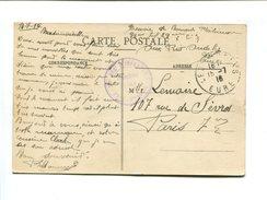 Cachet De Franchise Militaire - 39e Regt D'Infanterie 29e Compagnie - Les Andelys 15.7.16 - Marcophilie (Lettres)