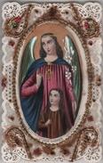 IMAGE PIEUSE XIXàme HOLY CARD SANTINI Holycard Canivet Saint Ange Gardien - Images Religieuses
