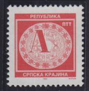 Croatia Republic Of Serbian Krajina 1995 Definitive A - Decoration, MNH (**) Michel 37 - Croatie