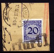 A4630) DR Infla Briefstück Mit Päckchenstempel Erfurt 1 - Gebraucht