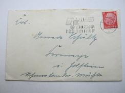 1938, Stettin   , Maschinenwerbestempel Auf Brief - Allemagne