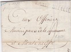 Armée D' Italie - 1792 - Subsistances Militaires - TB - Marcophilie (Lettres)