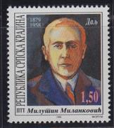 Croatia Republic Of Serbian Krajina 1996 Astronomer Milutin Milankovic, MNH (**) Michel 62 - Croatie