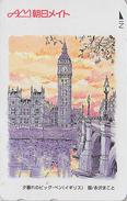 Télécarte Japon / 110-011 - Série Peinture MAKO - Site GRANDE-BRETAGNE - LONDON BIG BEN  ENGLAND Rel Japan Phonecard - Japan