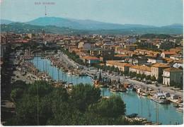 Cartolina - Postcard  - PANORAMA DEL PORTO CANALE SULLO SFONDO S. MARINO -  RIMINI - Rimini