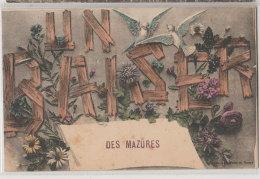 08 Les Mazures 1911 Un Baiser Des Mazures Editeur Imprimeries Réunies De Nancy Voyagé - Autres Communes