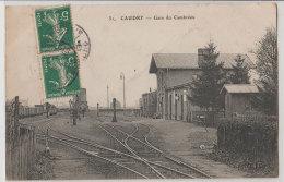 59 Caudry Gare Du Cambrésis 1907 Avec Aiguillage Trains Editeur ELD N°31 - Caudry