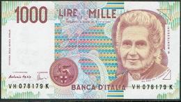 ITALY 1000 Lire Maria Montessori - [ 2] 1946-… : République