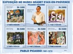 SAO TOME E PRINCIPE 2009 SHEET PABLO PICASSO ART PAINTINGS ARTE PINTURAS St9606a - Sao Tomé Y Príncipe