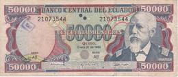 BILLETE DE ECUADOR DE 50000 SUCRES DEL 31 DE ENERO DEL AÑO 1995 (BANKNOTE) - Ecuador