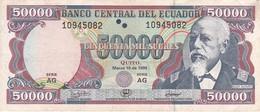 BILLETE DE ECUADOR DE 50000 SUCRES DEL 10 DE MARZO DEL AÑO 1999 (BANKNOTE) - Ecuador