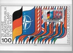 ALLEMAGNE  Carte  Maxi  1980 Otan Drapeaux