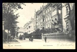 No. 29. Warszawa Aleja Ujazdowskie / Postcard Circulated, 2 Scans - Poland