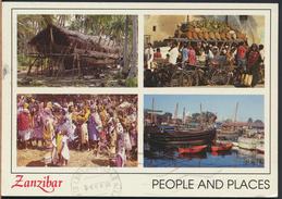°°° 3992 - ZANZIBAR - PEOPLE AND PLACES - 1997 °°° - Cartoline