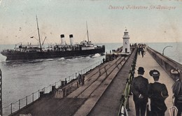Leaving Folkestone For Boulogne, Ferry, Steamer, Boat (pk34502) - Folkestone