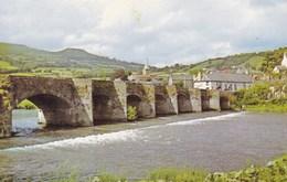 The Bridge And River Usk Abergavenny, Wales (pk34509) - Wales