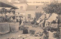 CAP VERT / S. Vicente - Mercado - Beau Cliché Animé - Léger Défaut - Cap Vert