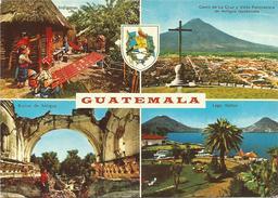 V985 Guatemala - Indigenas Tejiendo - Cerro De La Cruz - Ruinas De Antigua - Lago Atitlan / Non Viaggiata - Guatemala