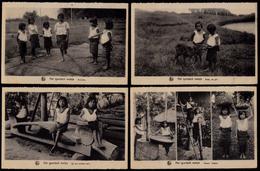 7 OLD CPA ** MISSION OF SCHEUT - THE IGOROTSCH GIRLS **  - Philippine Girls - 2 Scans ! - Philippines