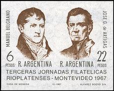 Argentina HB 016 ** MNH. 1967 - Hojas Bloque