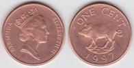 BERMUDA  1 CENTIMO  CU  ZN  KM#44b  SC/UNC  1.997     DL-6838 - Monedas