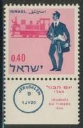 Israel 1966 Mi 380 YT 328 Sc 331 + Tab ** Palestine Postman (1920) + Steam Locomotive / Postbote Aus Br. Mandatszeit - Post
