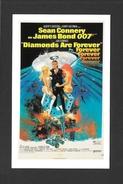 AFFICHES - POSTERS - CINÉMA - JAMES BOND AGENT 007 -  US POSTER SEAN CONNERY - DIAMONDS ARE FOREVER (1971) - Affiches Sur Carte
