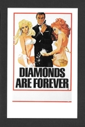 AFFICHES - POSTERS - CINÉMA - JAMES BOND AGENT 007 -  UK POSTER  SEAN CONNERY - DIAMONDS ARE FOREVER (1971) - Affiches Sur Carte