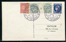 France  - Oblitération Et Carte De La Journée Du Timbre Au Havre En 1944  -  Ref A26 - Postmark Collection (Covers)