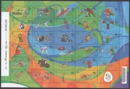 OLYMPIC GAMES RIO 2016 4TH SERIES SHEET MNH BRAZIL 2015 - Brazil