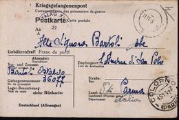 Allemagne Camp De Prisonniers 317 Markt Pongau Italie Camp Représailles FM Censure Stalag XVIII C - Briefe U. Dokumente