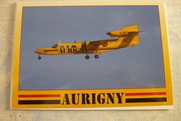 AIRLINE ISSUE / CARTE COMPAGNIE     AURIGNY  Air Services    TRISLANDER - 1946-....: Era Moderna