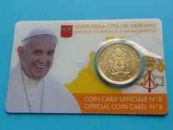 COIN  CARD  N° 8  VATICAN  2017  ( 3 Photos ) - Vaticano (Ciudad Del)