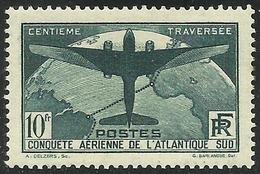 France - Traversée De L´Atlantique-Sud - N° 321 Neuf Sans Charnière. Avec Certificat. - France
