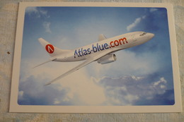 AIRLINE ISSUE / CARTE COMPAGNIE     ATLAS BLUE   B 737 - 1946-....: Ere Moderne